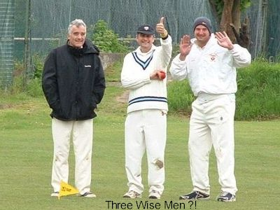 Skipper Wilkinson with Messrs Alexander and Gratton